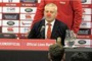 warren gatland will 'never say never' to leading the lions again...