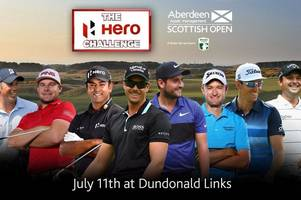 major golf stars tee-off scottish open week with free 'it's a knockout' contest in irvine