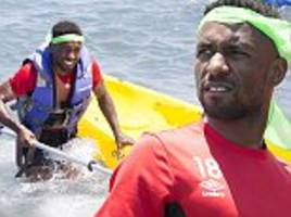 bournemouth stars swap balls for boats as they go kayaking