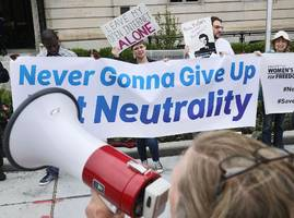 at&t says it will support a massive protest to save 'net-neutrality' even though it sued to kill today's net-neutrality rules (t)