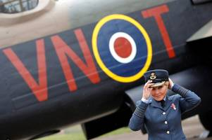 carol vorderman attends battle of britain flight 60th anniversary air display in lincolnshire