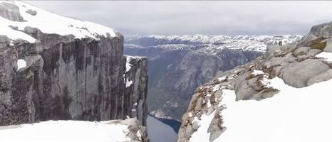 panasonic to live stream evolta robot's challenge on 1,000m fjord vertical climb