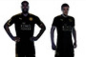 Leicester City unveil new black and gold  away kit