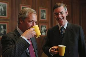 nigel farage bombarded with texts supporting #moggmentum