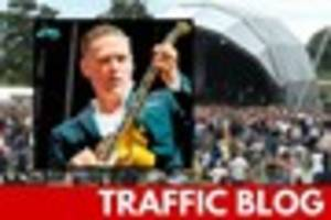 live: traffic problems as thousands descend on powderham for...