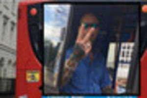 headlines at 6pm including bus driver's v-sign to cyclist