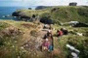 Excavations at Tintagel Castle reveal that Cornwall kings feasted...