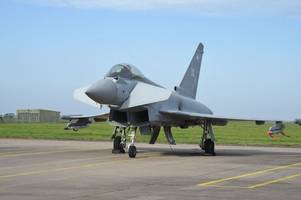 they're about to get even more high-tech - government splashes out tens of millions on upgrade of raf typhoons in lincolnshire