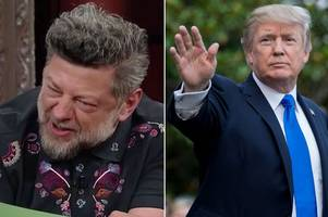 actor transforms into lord of the rings' gollum to impersonate donald trump and read out fake news tweets