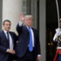 chaotic start to us president donald trump's paris visit