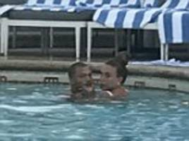 jeremy meeks reunites with chloe green in a hotel pool