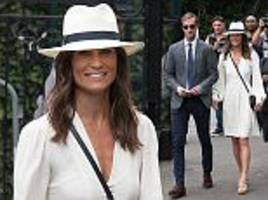 pippa middleton makes third visit to wimbledon