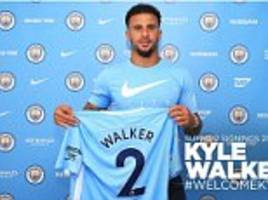 manchester city likely xi with kyle walker
