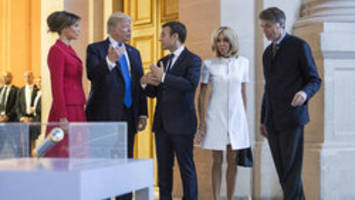 Wife of French president 'in such good shape': President Trump