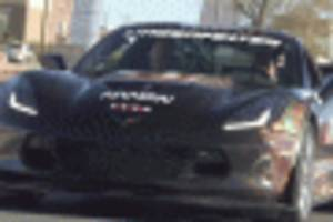 Quadriplegic race driver Sam Schmidt shows off special Chevrolet Corvette Z06