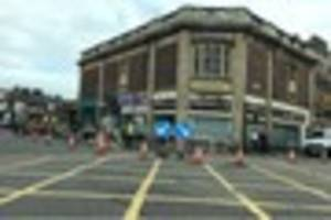 traffic lights are causing long delays in burton town centre as...