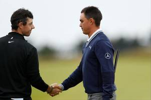 rickie fowler keeps his head as rory mcilroy loses his at the scottish open