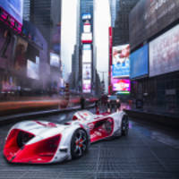 World's First Driverless Electric Racing Car Makes U.S. Debut in New York City