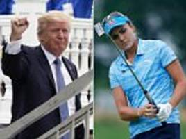 US Women's Open disrupted by Donald Trump's arrival