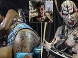 vampires and angels of death show off body art in colombia