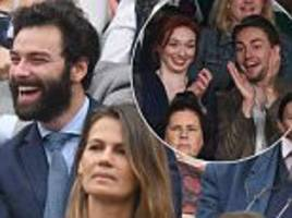 aidan turner sits in royal box without eleanor tomlinson