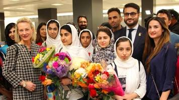 afghan all-girls robotics team, originally denied entry, arrives in us