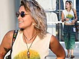 Paris Jackson flaunts her tummy at Classic West festival