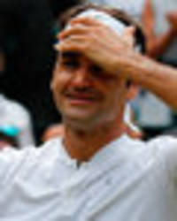roger federer reduced to tears at wimbledon final... just after marin cilic cries on court