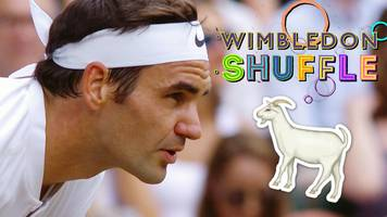 wimbledon 2017: federer the goat, celebrity spotting & final day funnies