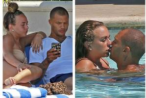 hot felon turned runway model jeremy meeks spotted locking lips with topshop heiress chloe green... days after splitting with his wife