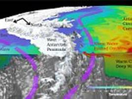 antarctic sea ice is melting because of strong winds