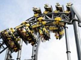 man injured on rollercoaster after dozens trapped at 50ft