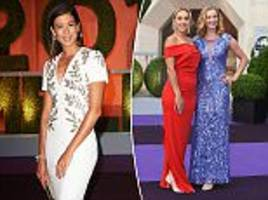 muguruza leads out wimbledon stars for champion's dinner