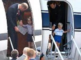 Prince George wears shorts just like William wore as a tot