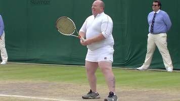 wimbledon surprise for irish man served by kim clijsters