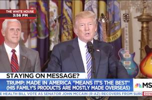 MSNBC Chyron Trolled President Trump During His 'Made in America' Speech Today