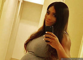 Ready to Pop? Serena Williams Flaunts Bulging Baby Bump in Curve-Hugging Dress