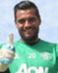 Done deal: Manchester United goalkeeper Sergio Romero signs new Old Trafford contract