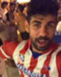 Watch Chelsea star Diego Costa dance in Atletico Madrid top and make dig at Antonio Conte