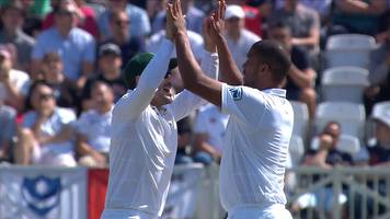 england v south africa: philander bowls jennings in the second over of the day