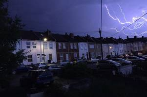 weather warnings for rain, thunderstorms and hail issued for bristol