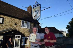 camra pub of the year award for bird in hand at henstridge