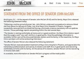Reports Indicate John McCain's Surgery Might Be More Serious Than Thought