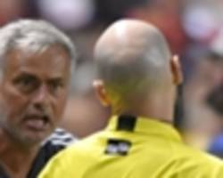 mourinho reveals valencia saw red in man utd friendly after substitute request snub