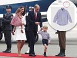 Prince George's shirt he wore in Poland sold out online