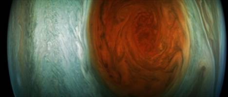 Spacecraft reveals beauty of Jupiter's Great Red Spot, solar system's biggest storm