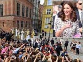 kate and william visit a polish market in gdansk