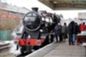 GCR trains stopped after steam engine spark causes fire on...
