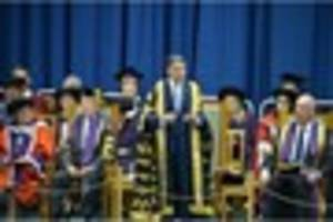 olympic star lord coe installed as the new chancellor at...