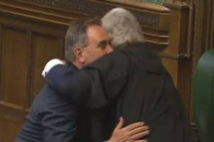 Big emotional hug for David Drew from Speaker of the House of Commons